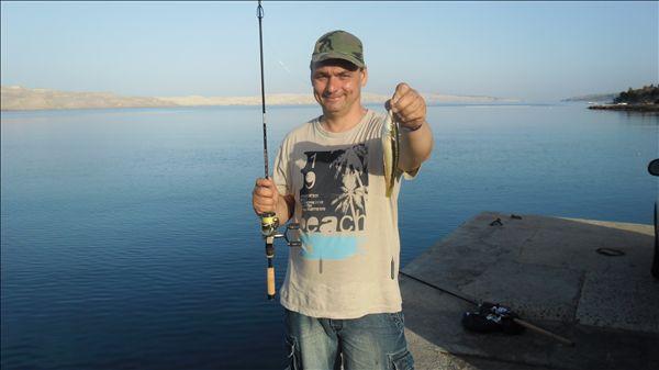 рыбалка на хорватии из берега моря